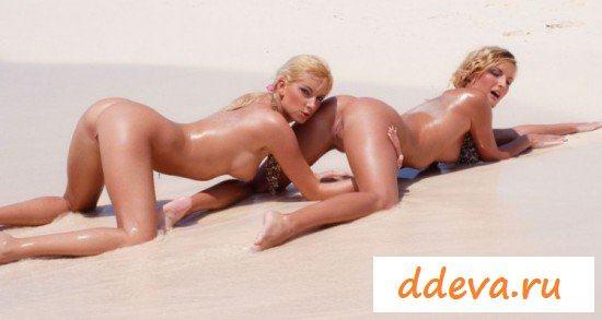 Сексапильные сестрицы искушают на пляже